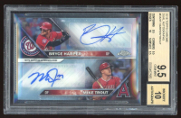 Bryce Harper / Mike Trout 2016 Topps Chrome Dual Autographs #DAHT /25 (BGS 9.5) at PristineAuction.com