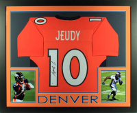 Jerry Jeudy Signed 34x42 Custom Framed Jersey Display (Beckett COA) at PristineAuction.com
