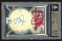 Mike Trout 2018 Topps Museum Collection Archival Autographs Emerald #AAMTR 1/1 (BGS 9.5) at PristineAuction.com