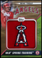 Mike Trout 2021 Topps Spring Training Cap Logos Gold #STCLMT at PristineAuction.com