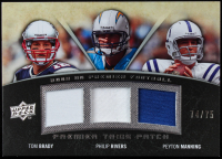 Tom Brady / Philip Rivers / Peyton Manning 2008 Upper Deck Premier Trios Patch 75 #MBR at PristineAuction.com
