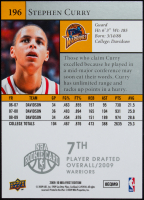 Stephen Curry 2009-10 Upper Deck First Edition #196 RC at PristineAuction.com