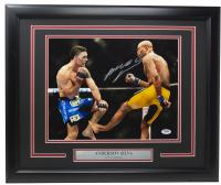 Anderson Silva Signed UFC 11x14 Custom Framed Photo (PSA COA) at PristineAuction.com