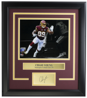 Chase Young Washington 11x14 Custom Framed Laser Engraved Photo Display at PristineAuction.com