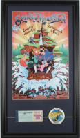 "Disneyland ""Splash Mountain"" 15x26 Custom Framed Print Display with Vintage Ticket Booklet & Splash Mountain Lapel Pin at PristineAuction.com"