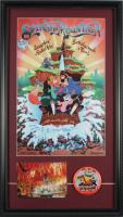 "Disneyland ""Splash Mountain"" 15x26 Custom Framed Print Display with Vintage Tokyo Disneyland Souvenir Postcard & Tokyo Disneyland Original Ride Opening Employee Lapel Pin at PristineAuction.com"