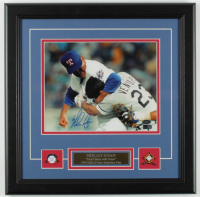 Nolan Ryan Signed Rangers 16x16 Custom Framed Photo Display (AIV COA & Ryan Hologram) at PristineAuction.com