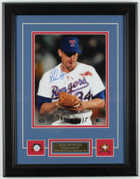 Nolan Ryan Signed Rangers 14x18 Custom Framed Photo Display (AIV COA & Ryan Hologram) at PristineAuction.com