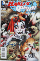 """Jimmy Palmiotti & Amanda Conner Signed 2014 """"Harley Quinn"""" DC New 52 Issue #2 DC Book (Beckett Hologram) at PristineAuction.com"""