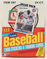 1988 Fleer Baseball Wax Box with (24) Packs at PristineAuction.com