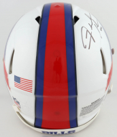 Fred Jackson Signed Bills Full-Size Auithentic On-Field Speed Helmet (JSA COA) (See Description) at PristineAuction.com