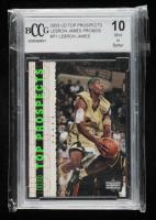 LeBron James 2003 Upper Deck Top Prospects LeBron James Promos #P1 (BCCG 10) at PristineAuction.com