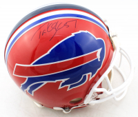 Takeo Spikes Signed Bills Full-Size Authentic On-Field Helmet (PSA Hologram) at PristineAuction.com