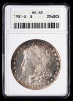 1901-O Morgan Silver Dollar (ANACS MS63) (Toned) at PristineAuction.com