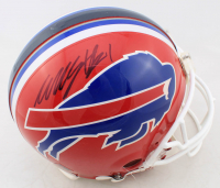 Willis McGahee Signed Bills Full-Size Authentic On-Field Helmet (Mounted Memories COA) (See Description) at PristineAuction.com