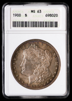 1900 Morgan Silver Dollar (ANACS MS63) (Toned) at PristineAuction.com