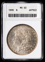 1898 Morgan Silver Dollar (ANACS MS63) (Toned) at PristineAuction.com