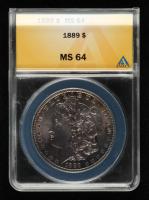 1889 Morgan Silver Dollar (ANACS MS64) (Toned) at PristineAuction.com