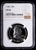 1963 Franklin Silver Half Dollar (NGC PF67) at PristineAuction.com