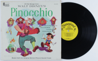 "Vintage 1963 Walt Disney's ""Pinocchio"" Original Soundtrack Vinyl LP Record Album (See Description) at PristineAuction.com"