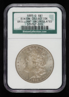 1885-O Morgan Silver Dollar - Binion Collection (NGC Brilliant Uncirculated) at PristineAuction.com