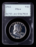 1962 Franklin Silver Half Dollar (PCGS PR64) OGH at PristineAuction.com