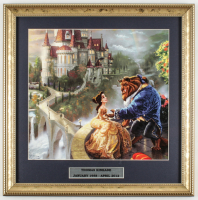 "Thomas Kinkade ""Beauty & The Beast"" 16x16 Custom Framed Print Display at PristineAuction.com"