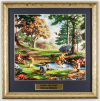 "Thomas Kinkade ""Winnie The Pooh"" 16x16 Custom Framed Print Display at PristineAuction.com"