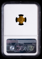 1855-Dated Californai Gold Token Indian - Wreath #5 12 Stars Round (NGC MS64) at PristineAuction.com