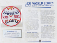 1937 World Series 9.5x12 Photo Display with Patch at PristineAuction.com