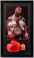 """Iron"" Mike Tyson Signed 18x31 Custom Framed Boxing Glove Display (PSA COA) at PristineAuction.com"