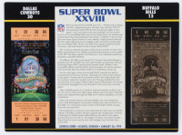 Super Bowl XXVIII Champions 9.5x12 Ticket Display at PristineAuction.com