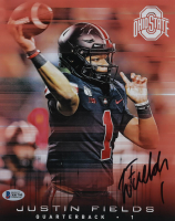 Justin Fields Signed Ohio State Buckeyes 8x10 Photo (Beckett COA) at PristineAuction.com