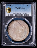 1884 Morgan Silver Dollar (PCGS MS64) (Toned) at PristineAuction.com