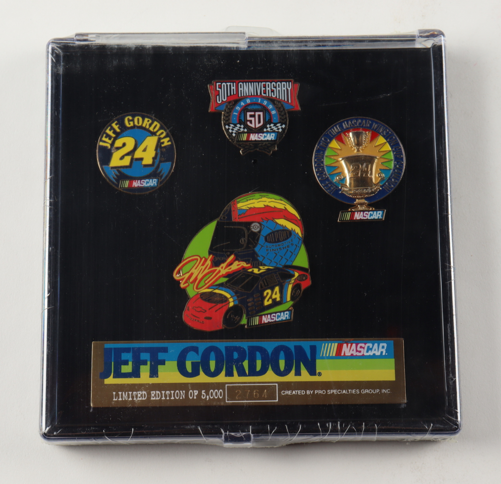 Jeff Gordon NASCAR LE Set of (4) Pins at PristineAuction.com