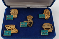 Set of (5) Vintage Walt Disney Classics Collection 5th Anniversary Pins at PristineAuction.com