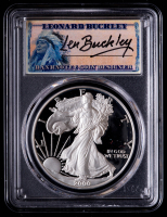 2000 American Silver Eagle $1 One Dollar Coin - Leonard Buckley Signed Label (PCGS PR69DCAM) at PristineAuction.com