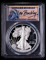 2014-W American Silver Eagle $1 One Dollar Coin - Leonard Buckley Signed Label (PCGS PR69DCAM) at PristineAuction.com