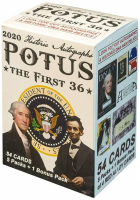 2020 Historic Autographs POTUS - The First 36 Blaster Box with (54) Cards at PristineAuction.com