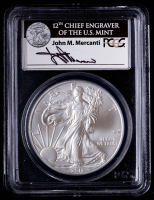 2011 American Silver Eagle $1 One Dollar Coin - First Strike 25th Anniversary Set John M. Mercanti Signed Label (PCGS MS69) at PristineAuction.com