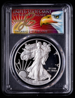2016-W American Silver Eagle $1 One Dollar Coin - Thomas Cleveland Signed Eagle with Sun Label (PCGS PR69 DCAM) at PristineAuction.com