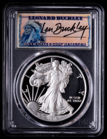 2016-W American Silver Eagle $1 One Dollar Coin - Leonard Buckley Signed Label 30th Anniversary (PCGS PR69 DCAM) at PristineAuction.com