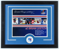 Brian Leetch Rangers 18x22 Custom Framed Photo Display at PristineAuction.com