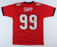 "Warren Sapp Signed Jersey Inscribed ""HOF '13"" (Beckett COA) at PristineAuction.com"