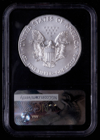 """2017(W) American Silver Eagle $1 One Dollar Coin - John M. Mercanti Signed """"Struck At West Point Mint"""" (NGC MS69) at PristineAuction.com"""