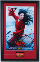 """Mulan"" 15x23 Custom Framed Movie Poster Display with Original Employee Movie Release Lapel Pin at PristineAuction.com"