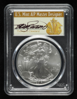 2017 American Silver Eagle $1 One Dollar Coin, First Day of Issue - Thomas S. Cleveland Signed Label (PCGS MS70) at PristineAuction.com