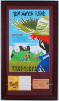 "1960s Disneyland ""Tom Sawyer's Island"" 15x26 Custom Framed Print Display with Vintage Ride Ticket & Photo Portfolio at PristineAuction.com"