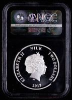 2017 $2 Two Dollar NIUE Silver Luke Skywalker Star Wars Coin- One of First 2000 Struck (NGC PF 69 Ultra Cameo) at PristineAuction.com
