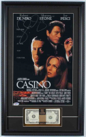 "Sharon Stone Signed ""Casino"" 15x24 Custom Framed Movie Poster Display With Prop Money (PSA COA) at PristineAuction.com"